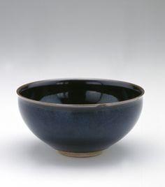 Tea bowl  mid 19th century    Kinkozan Sobei workshop , (Japanese,   Edo period     Stoneware with iron glaze  H: 5.9 W: 11.8 cm   Kyoto, Japan