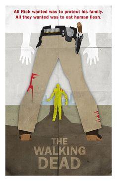 Minimalist The Walking Dead Posters by Jason Kauzlarich, via Behance