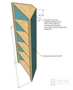 Ana White   Build a Corner Cupboard   Free and Easy DIY Project and Furniture Plans