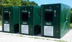 Our new ECO Bike Lockers are made of high strength fiberglass composite materials using a new resin with 25% recycled plastic content! #ECOBike http://ameribike.com/2013/04/22/new-eco-bike-lockers/