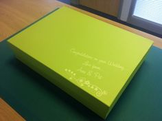 Wedding Box... design, printed and converted in an hour!