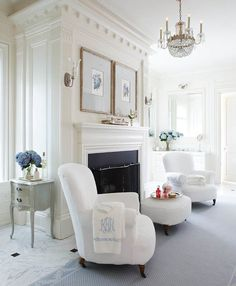 """1,092 Likes, 15 Comments - Andrea (@theglampad) on Instagram: """"Master bath chairs are covered in #terrycloth and rest upon a heated marble floor in my #dreamhome…"""""""