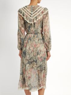 Cavalier floral-print silk-chiffon dress | Zimmermann | MATCHESFASHION.COM