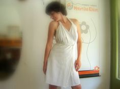 Halter neck white dress by bedilaeleni on Etsy, $99.00