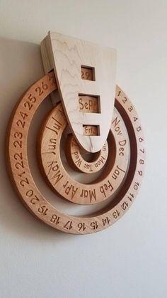 Perpetual calendar wooden perpetual calendar wood calendar perpetual calender forever calendar never ending calendar wooden calendar