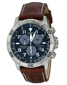 Citizen Men's Titanium Eco-Drive Watch with Leather Band Online Exclusive! Take things up a notch with this perpetual calendar chronograph. Amazing Watches, Beautiful Watches, Stylish Watches, Luxury Watches, Cool Watches For Women, Watch Bands, Chronograph, Leather Men, Bracelets