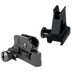 AR15  M4 Front and Rear Sight Combo  A2 Style -- Click image to review more details.