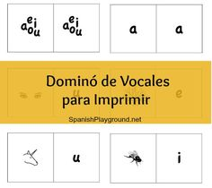 Printable Spanish Game – Dominoes with Vowels from Spanish Playground