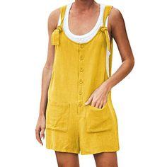 /Ét/é Femme Salopettes Combinaisons S,Marine Morbuy Coton Jumpsuit Casual Rompers 3//4 Harem Pantalon Playsuit Barboteuses