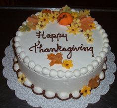 thanksgiving cakes | Happy Thanksgiving Cake