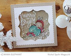 Nichol Spohr LLC: merry and bright | Mama Elephant Union Square Creative Cuts Dies Shaker Card I like that!