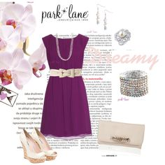 Dreamy, created by parklanejewelry on Polyvore    Park Lane Jewelry featured: Dreamy necklace, bracelet, and earrings, and Spoil Me Ring