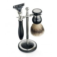 Grants of Dalvey Classic Shaving Stand with Badger Brush from The Pen Shop. Shop securely online today with The Pen Shop. Shaving Stand, Shaving Set, Shaving Brush, Wet Shaving, Shaving Razor, Classic Shaving, Pen Shop, Men's Grooming, Beauty