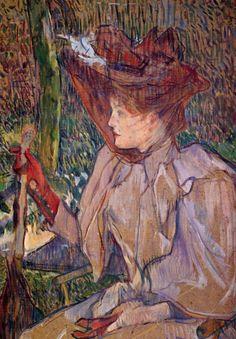 FRENCH PAINTERS: Henri de TOULOUSE-LAUTREC Portrait of Honorine Platzer (Woman with Gloves)