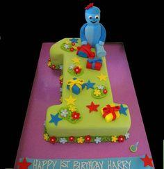 Iggle Piggle Number 1  Thats My Cake cakepins.com
