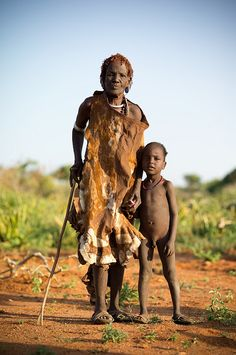 Hamer tribe Omo near Turmi - Ethiopia -The Hide Dress!