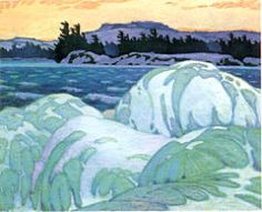 Casson, Alfred - Ice-Hummocks - Art Gallery of Ontario Toronto Landscape Art, Landscape Paintings, Emily Carr, Canadian Painters, Canadian Artists, Group Of Seven Paintings, Tom Thomson Paintings, Traditional Landscape, Artist