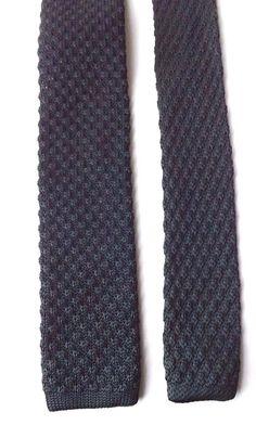 BURTON Black Label Skinny Knitted Neck Tie Black Mod Scooterists FREE P&P #Burton #Tie