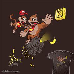 Life In The Mines | Shirtoid #diddykong #donkeykong #estudiofitas #estudiofitas #gaming #videogame