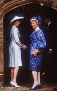 Image detail for -ALTHORP, ENGLAND - SEPTEMBER 17: (FILE PHOTO) Princess Diana (L) arrives with her mother Frances Shand-Kydd at St. Mary's Church on September 17, 1989 for the wedding of her brother Charles Spencer, the