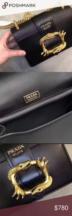 prada hand bag bag reall leather padara Bags Crossbody Bags