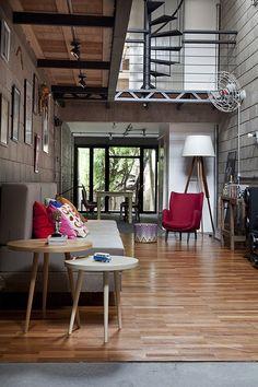 Loft de estética retro industrial | Decoratrix | Decoración, diseño e interiorismo