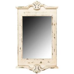Vintage Rustic Cream Home Decor Chic Square Vanity Wall Mirror w/ Ornate Edges Cool Mirrors, Beautiful Mirrors, Small Mirrors, Blue Framed Mirrors, Bath Mirrors, Vanity Wall Mirror, Cream Walls, Ornate Mirror, Country French