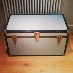 Vintage travel trunk @#Henrypaintsfurniture Hope Chest, Vintage Travel, Storage Chest, Upcycle, Trunks, Diy, Home Decor, Drift Wood, Decoration Home