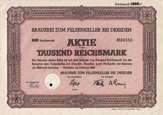 Brauerei zum Felsenkeller bei Dresden 1 000 RM 1943