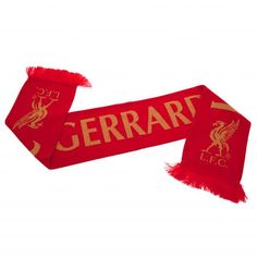 Official LIVERPOOL FC red and white YNWA scarf
