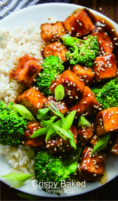 Crispy Baked Teriyaki Tofu | Crate Recipes5 Meal Ideas, Dinner Ideas, Traditional Chinese Food, Healthy Suppers, Teriyaki Tofu, Asian Recipes, Ethnic Recipes, Good Healthy Recipes, Vegetarian Meals