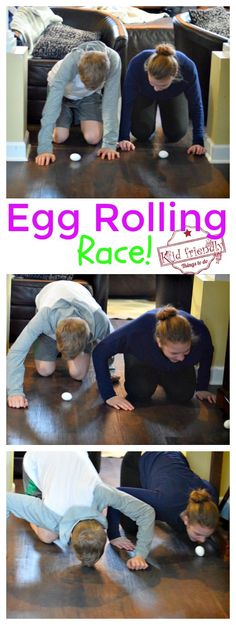 Egg Rolling Race Easter Game for Adults, Kids, and Teens to Play