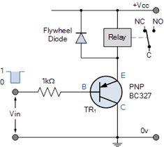 PNP Relay Switch Circuit