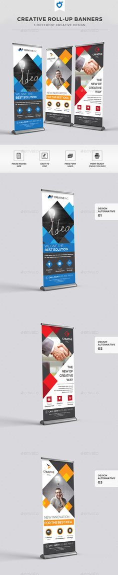 Creative Roll-up Banners Template #design Download: http://graphicriver.net/item/creative-rollup-banners/11309735?ref=ksioks