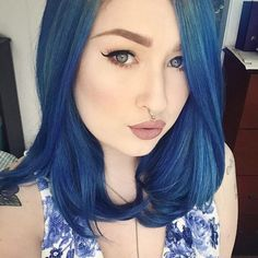 @runsredwine couldn't be more stunning in Extreme Blue  #overtone #extremeblue #ourcustomersrule