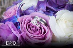 Wedding Rings | Bridal Bouquet | Purple | Flowers | #weddingrings #bridalbouquet #purple #flowers #RandRCreaitvePhotography