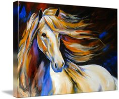 """WIND II"" by Marcia Baldwin, Shreveport, Louisiana // From my equine series of 2006, this original was sold to a collector of M Baldwin Fine Art Originals.  Please enjoy Imagekind prints on canvas or paper, framed, matted or other.. Your Choice. ~ Thanks for supporting original art by Marcia Baldwin // Imagekind.com -- Buy stunning fine art prints, framed prints and canvas prints directly from independent working artists and photographers."