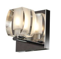 """View the Access Lighting 62286LEDD-CRY Evia 5"""" Tall Single Light ADA Compliant LED Bathroom Sconce with Crystal Glass Shade at LightingDirect.com."""