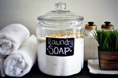 Recipe for homemade laundry soap! Avoid those toxins!!