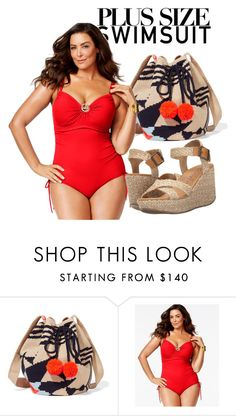 """""""Summer Sun"""" by madalina-bailesteanu on Polyvore featuring Sophie Anderson, Michael Kors, Blowfish, stylishcurves and plussizeswimsuit"""