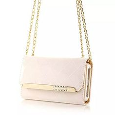 Life Sweetly White Premium Luxury Purse Handbag Case Wallet Leather with Metal Chain Strap for Apple iPhone 6 Plus 5.5 Inch - http://leather-handbags-shop.com/life-sweetly-white-premium-luxury-purse-handbag-case-wallet-leather-with-metal-chain-strap-for-apple-iphone-6-plus-5-5-inch/
