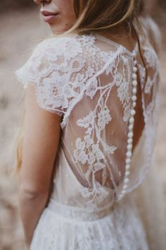Boho details on a gorgeous simple, country setting. Make your gown your own!