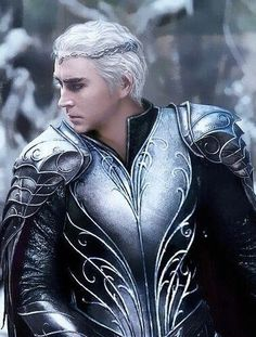 A different interpretation of Thranduil, revealing the splendor of his armor. Seeking the Artist.