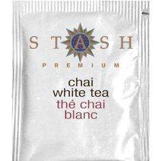 My all-time favorite tea. I always keep a few packets in my purse: Stash Premium Chai White Tea