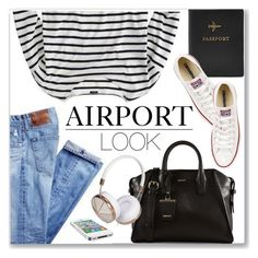 """""""Airport Outfit"""" by monmondefou ❤ liked on Polyvore"""