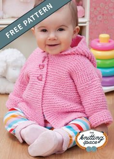 New Baby Knitting Patterns Free for To make things easy we have compiled all the latest free knitting patterns for babies and toddlers in the one post, find everything you need easily! Baby Girl Cardigans, Knit Baby Sweaters, Knitting Sweaters, Baby Knits, Knitted Baby Clothes, Cardigan Sweaters, Hooded Sweater, Jumper, Knitting For Kids