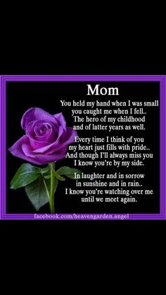 If Roses Grow In Heaven Lord Mom Mom Miss My Mom Miss You Mom