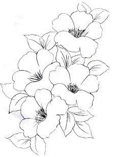 Riscos para Pintura em Tecido Flores                                                                                                                                                      Mais