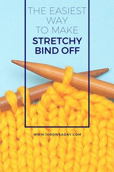 There is a number of ways to create a stretchy bind off. We discussed some of them in this tutorial, but every one of them has its own peculiarities. This tutorial is about the easiest way to… Casting Off Knitting, Bind Off Knitting, Knitting Help, Knitting Stiches, Easy Knitting, Knitting For Beginners, Knitting Socks, Knitting Patterns, Knit Stitches