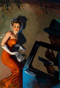 Pulp, Pulp-like, Digests, and Paperback Art, HUGH JOSEPH WARD (American, 1909-1945). Skeleton in the Closet,  Private Detective Stories pulp cover, September 1945.